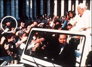 An assassination attempt on the Pope in 1981