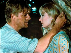 Sean Bean as Mellors and Joely Richardson as Lady Chatterley in the BBC drama 'Lady Chatterley