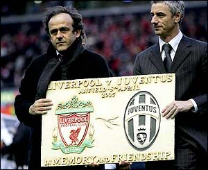 Michel Platini (left) and Ian Rush