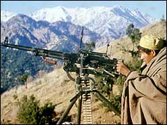 Guerrilla fighter in Afghanistan