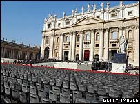 Preparations for the Pope's funeral in Rome