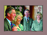Charles and Camilla stamps