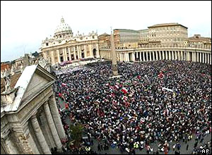 Pilgrims in St Peter's Square, Rome
