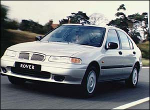 Publicity shot of the Rover 400