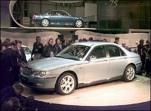 The Rover 75 is unveiled in 1998