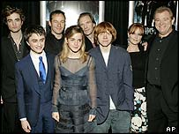 The cast for Harry Potter and the Goblet of Fire