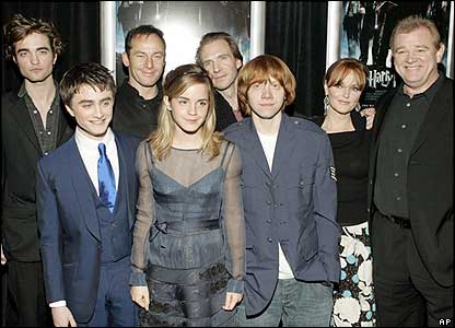 The cast of the Goblet of Fire