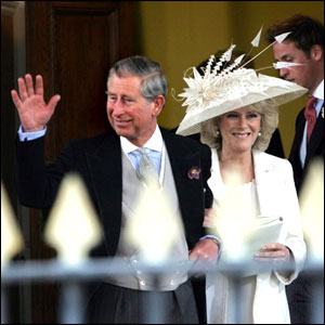 The Prince of Wales and Camilla leave the Windsor Guildhall