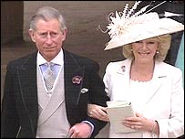 Prince Charles and Camilla Parker Bowles leave the Guildhall