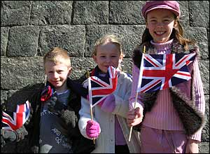Jack, Sophie and Lizzie all came to see Prince Charles and Duchess Camilla get married.