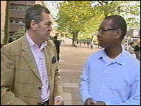 Professor Wilson talks to Lizo