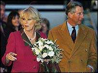 Prince of Wales and the Duchess of Cornwall at Aberdeen airport