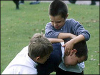 children fighting at school - photo #1