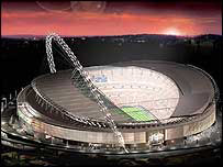 Wembley as it will look when it is completed