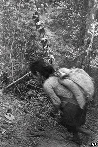 Carrying supplies on the Ho Chi Minh trail