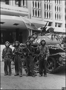 NVA troops at the Presidential Palace in Saigon