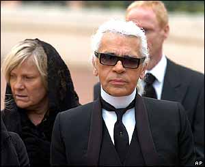 Karl Lagerfeld at the funeral