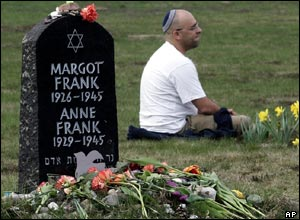 A memorial to sisters Margot and Anne Frank