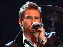Lee Ryan performed on stage