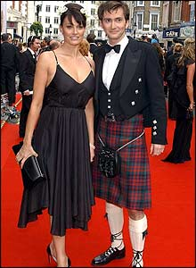 David Tennant with actress Sarah Parish