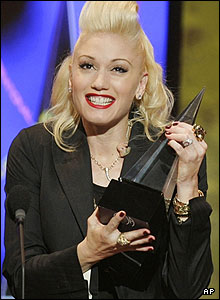 Gwen Stefani went home with the award in the favourite pop artist category.