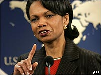 Condoleezza Rice at the state department