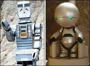 Marvin the Android, then and now