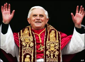 The new Pope Benedict XVI