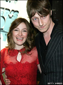 Actress Kelly MacDonald and Dougie Payne from Travis
