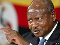 烏干達總統穆塞韋尼(資料圖片)