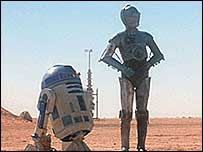 Star Wars droids R2-D2 and C-3PO