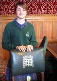 15-year-old Polly argued against lowering the voting age in the Houses of Parliament