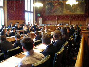 Sixty-six pupils took part in a debate at the Houses of Parliament. They argued whether or not to lower the voting age to 16.