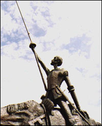Estatua de Don Quijote en Mar de Plata