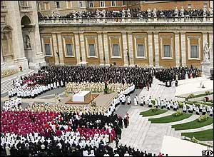Mass on St Peter's Basilica steps