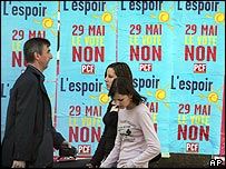 "Vote ""Non"" campaign posters in Lille, France"
