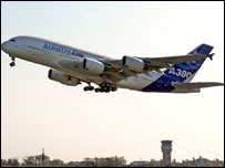 The Airbus A380 is the world's biggest passenger plane