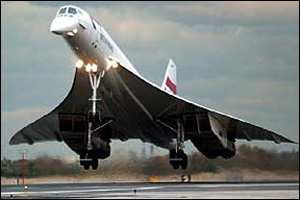Concorde was the first supersonic passenger plane and first flew in 1969. The fleet retired in 2003.