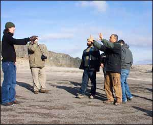 Recce at Trefil Quarry (Pic from Wales Screen Commission)