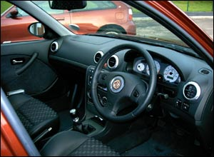 Interior of MG