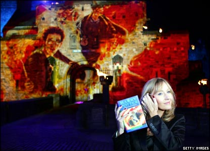 The long-awaited Harry Potter and the Half-Blood Prince hit the bookshelves and author JK Rowling launched  it with a special reading inside Edinburgh Castle.