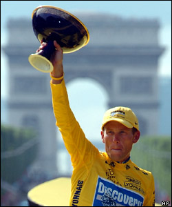 Cancer survivor Lance Armstrong won the Tour de France for the SEVENTH time. He's now retired from competitive cycling.