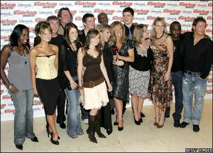 And victory for EastEnders as they beat off Coronation Street to win best soap at the Inside Soap awards for the ninth year in a row.