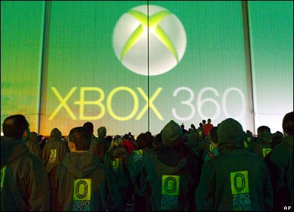 And ultra keen gamers in the US queued up to be the first to get their hands on the new Xbox 360.