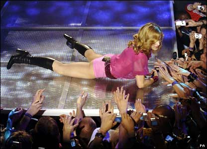 Pop queen Madonna stormed the charts with her single Hung Up - with five weeks at the top of the download chart, and two weeks at number one in both the single and album charts.