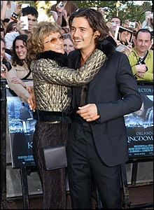 Photo of Orlando Bloom & his  Mother  Sonia Constance Josephine Copeland