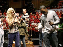 Joss Stone and Lemar lead the singing