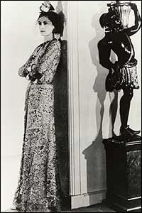 Coco Chanel in evening dress