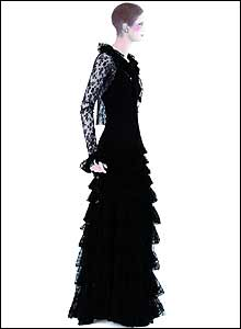 Chanel black evening dress (1937)