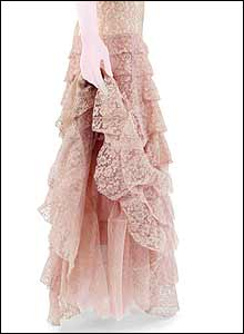 Chanel peach lace dress (1937)